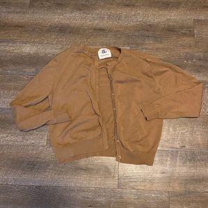 Bahari Group Tan Cardigan Sweater